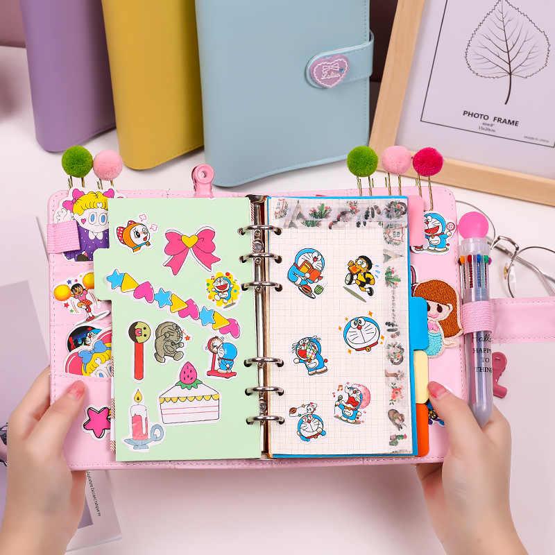 Kawaii מחברת A6 קלסר Bullet יומן קוריאני בנות DIY סדר יום מארגן מתכנן ספירלת הערה ספר סט חמוד נסיעות Handbook