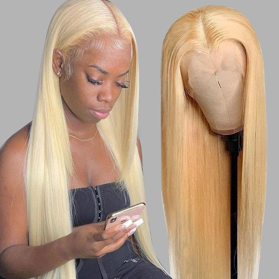 613 dantel Frontal peruk kemik düz insan saçı kısa postiç siyah kadınlar için renkli bal sarışın vücut dalga ön peruk 28 30 inç