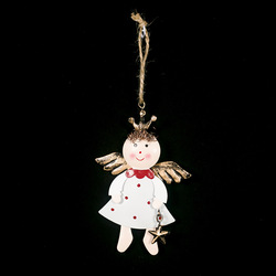 Iron Painted Star Angel Pendant Christmas Decoration 2020 New Year Decora Child Toy Navidad Gift Christmas Decorations for Home 3