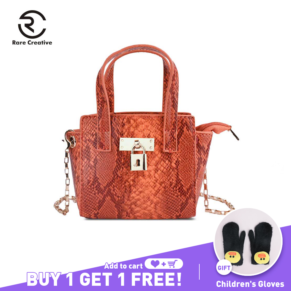 RARE CREATIVE Brand Snake Designer Women Bag Chain Strap Shoulder Bag Small Crossbody Bag For Women PU Leather Bag Female PS8022