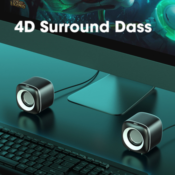 Mini Computer Speakers Deep Bass Sound Speaker for For TV Laptop Surround Sound Box Subwoofer Powerful Multimedia Loudspeakers 3