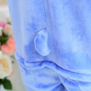 Image 4 - Pijama de mujer de invierno KIGUCOS, disfraz con capucha de dibujos animados para niños, pijama de dinosaurio Kigurumi Animal, ropa de casa de franela caliente todo en uno
