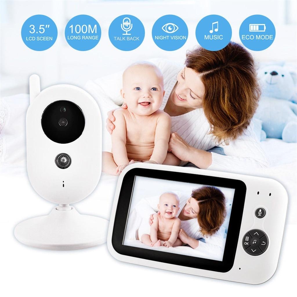 Беспроводная 2,4 ГГц цифровая цветная ЖК камера для видеоняни с ночным видением Аудио Видео 3,5 дюймов HD Встроенная литиевая батарея ночного в