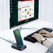 7 в 1 type-C концентратор док-станция для samsung S10 S9 S8 Dex Pad станция USB-C к HDMI док-станция адаптер питания для huawei P30 P20 Pro