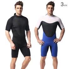 Swimming Surf Men Scuba Equipment surfing suit 3mm Diving Neoprene Wetsuit Short Diving Suit Front Zipper freediving suit цена и фото