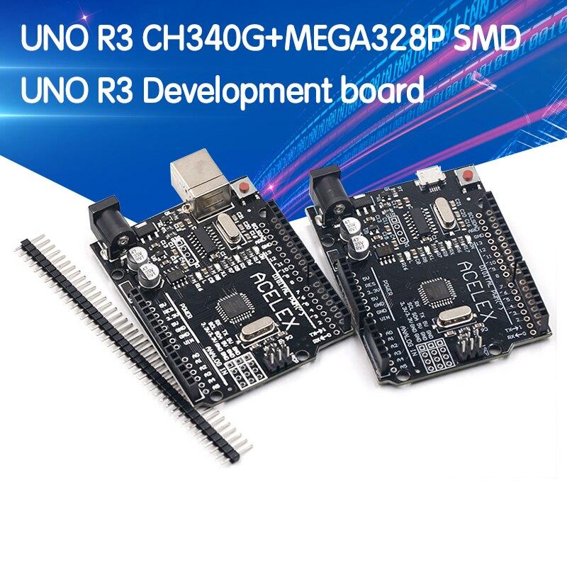 Плата разработки UNO R3 CH340G + MEGA328P SMD, чип 16 МГц для Arduino UNO R3, USB-кабель ATEGA328P, один комплект
