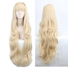 Volcaloid3 seeu peruca 100cm luz loira encaracolado ondulado longo resistente ao calor do cabelo sintético cosplay perucas traje + peruca boné