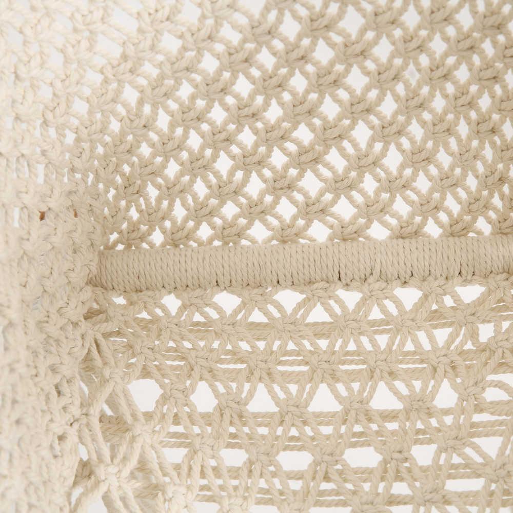 아기 스윙 교수형 의자 수제 macrame 코튼 베이지 나무 실내 야외 유아 스윙 좌석 유아 해먹 스윙 0-3 년