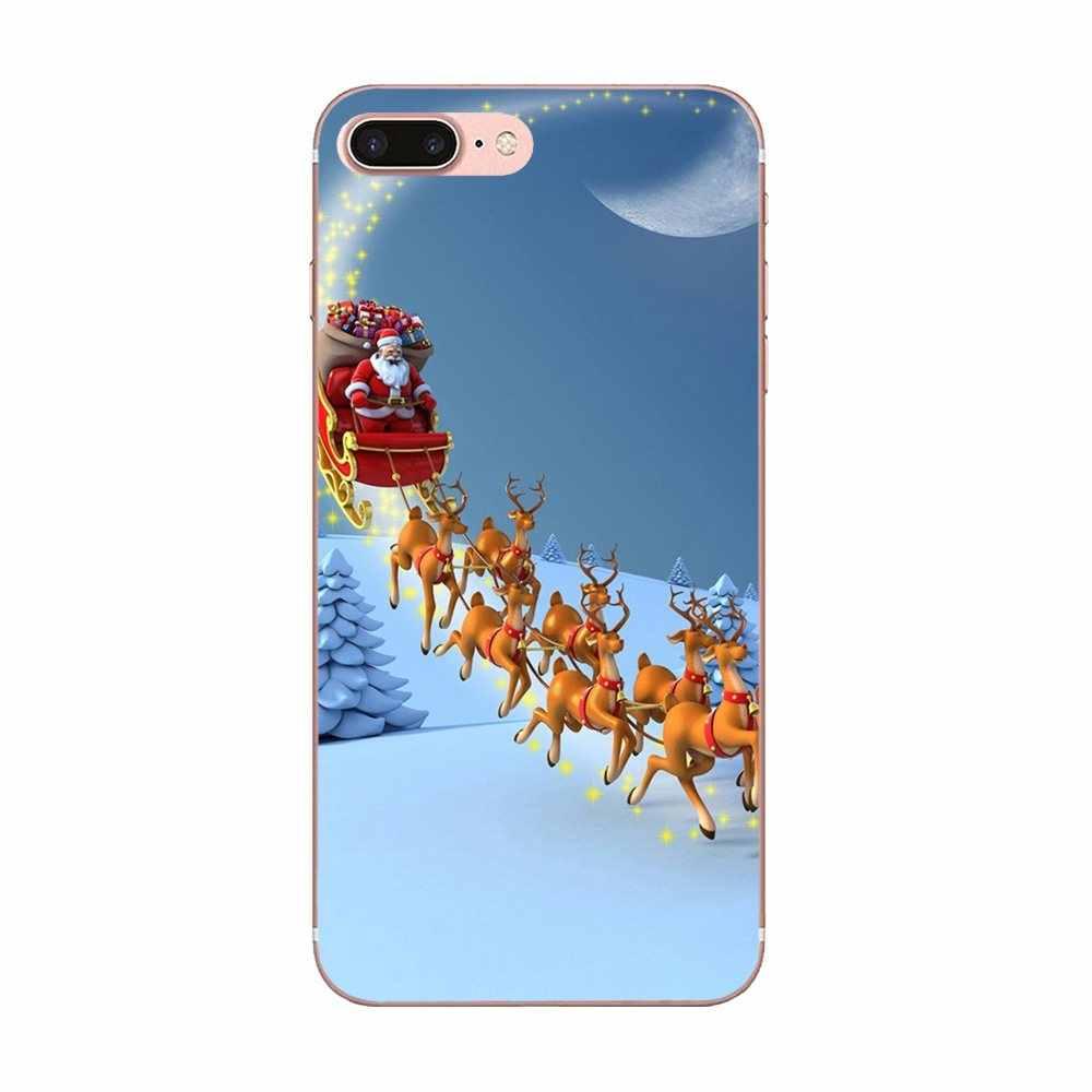 Chúc Giáng Sinh Hươu TPU Cao Su Cho Motorola G G2 G3 G4 G5 G6 G7 Plus Dành Cho Xiaomi Redmi Note 8 8A 8T 10 K30 5G Pro