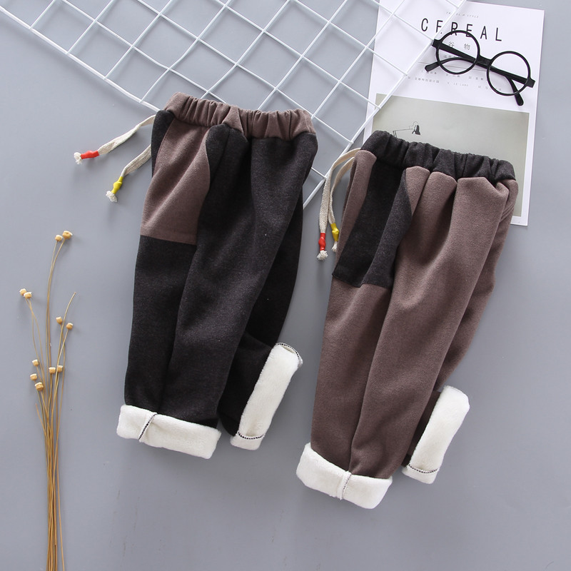 New Baby Pants Thick Winter Baby Child Trousers LONG Pants Children Leggings Kids Thick Velvet Pants Boys Warm Trousers 1-5 YEAR