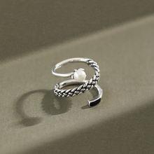 Кольцо женское из серебра 925 пробы с жемчугом