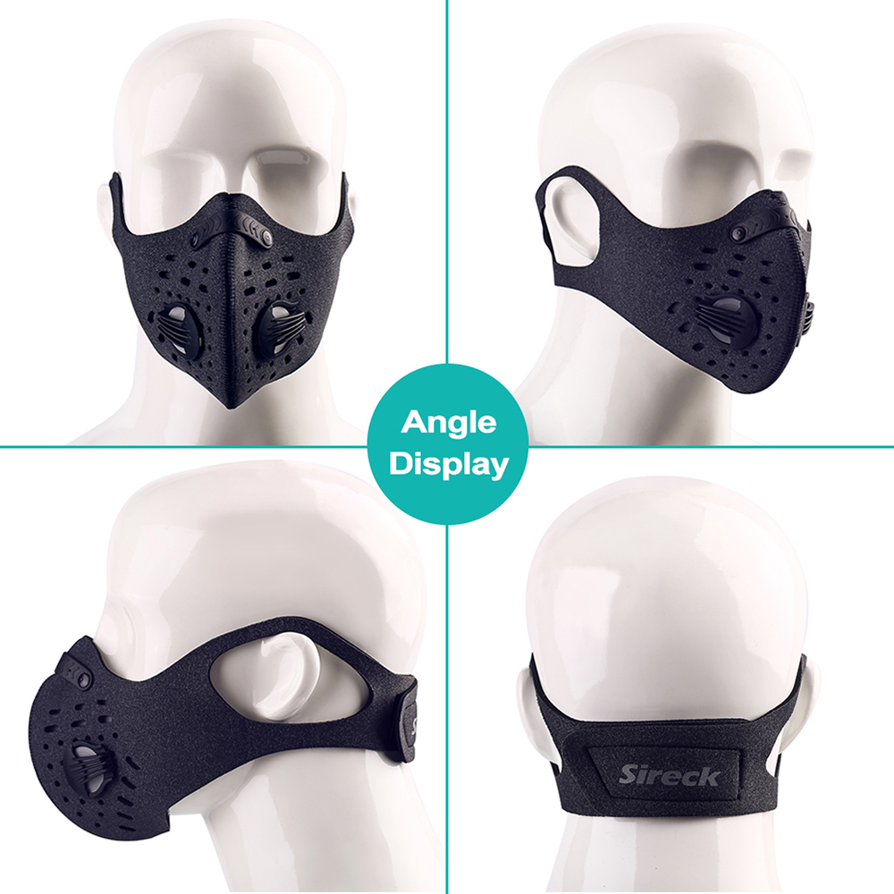 Sireck Cycling Mask Activated Carbon Dustproof Training Face Mask Anti pollution Sports Running Bike Ski Mask Sireck Cycling Mask Activated Carbon Dustproof Training Face Mask Anti-pollution Sports Running Bike Ski Mask Sport Facemask