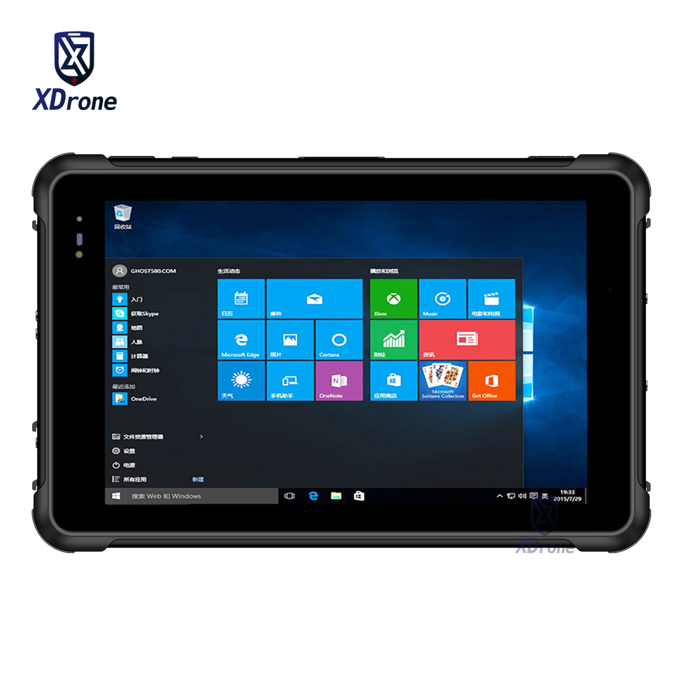 Original Kcosit K881 Rugged Windows 10 Tablet 8 Inch 4G RAM 64GB ROM PC Intel Z8350 Waterproof GPS U-Blox M8N 2D Barcode Scanner