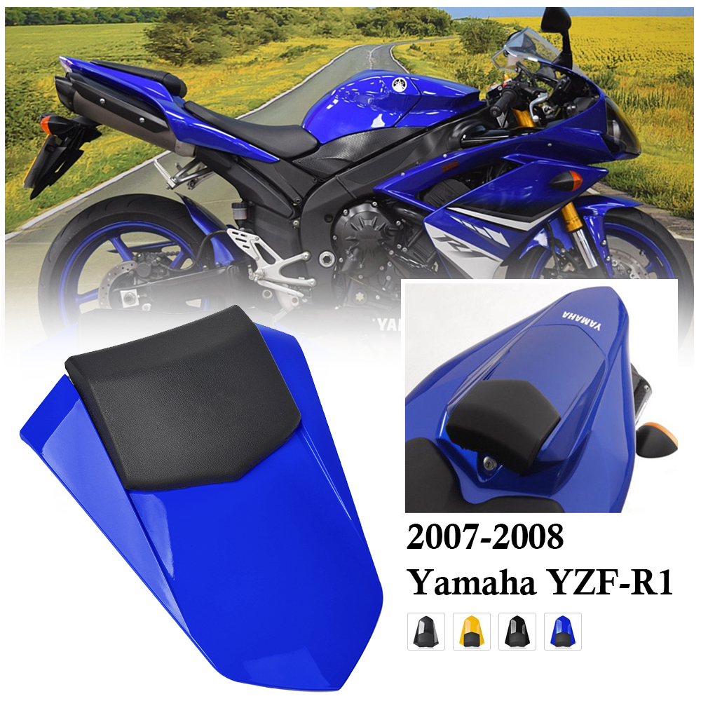 Passenger Pillion Hump <font><b>Fairing</b></font> Rear Seat Cover Cowl For <font><b>Yamaha</b></font> YZF <font><b>R1</b></font> YZFR1 YZF-<font><b>R1</b></font> <font><b>2007</b></font> 2008 Motorcycle Accessories Parts Black image