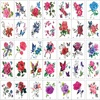 2021 100pcs/Set No Repeat Flowers Butterfly Temporary Tattoos Waterproof Body Art Concealer Stickers Disposable tatouage