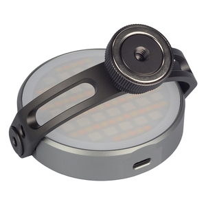 Image 5 - FOTOBETTER Adjustable LED Video Light Round RGB Full Color Fill Light Photography Lighting with Extend Magic Arm