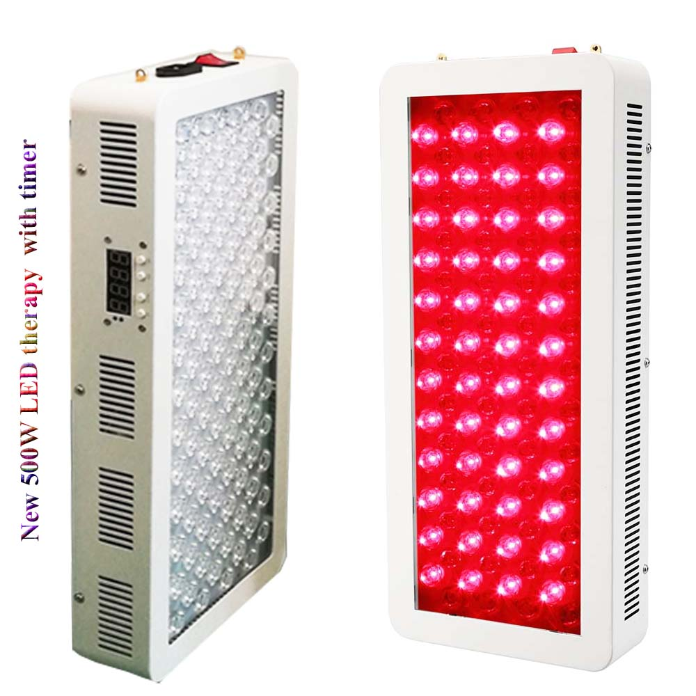500W Red Led Light Therapy Deep Red 660nm Near Infrared 850nm Body Red Light Therapy Device For Full Body Skin And Pain Relief