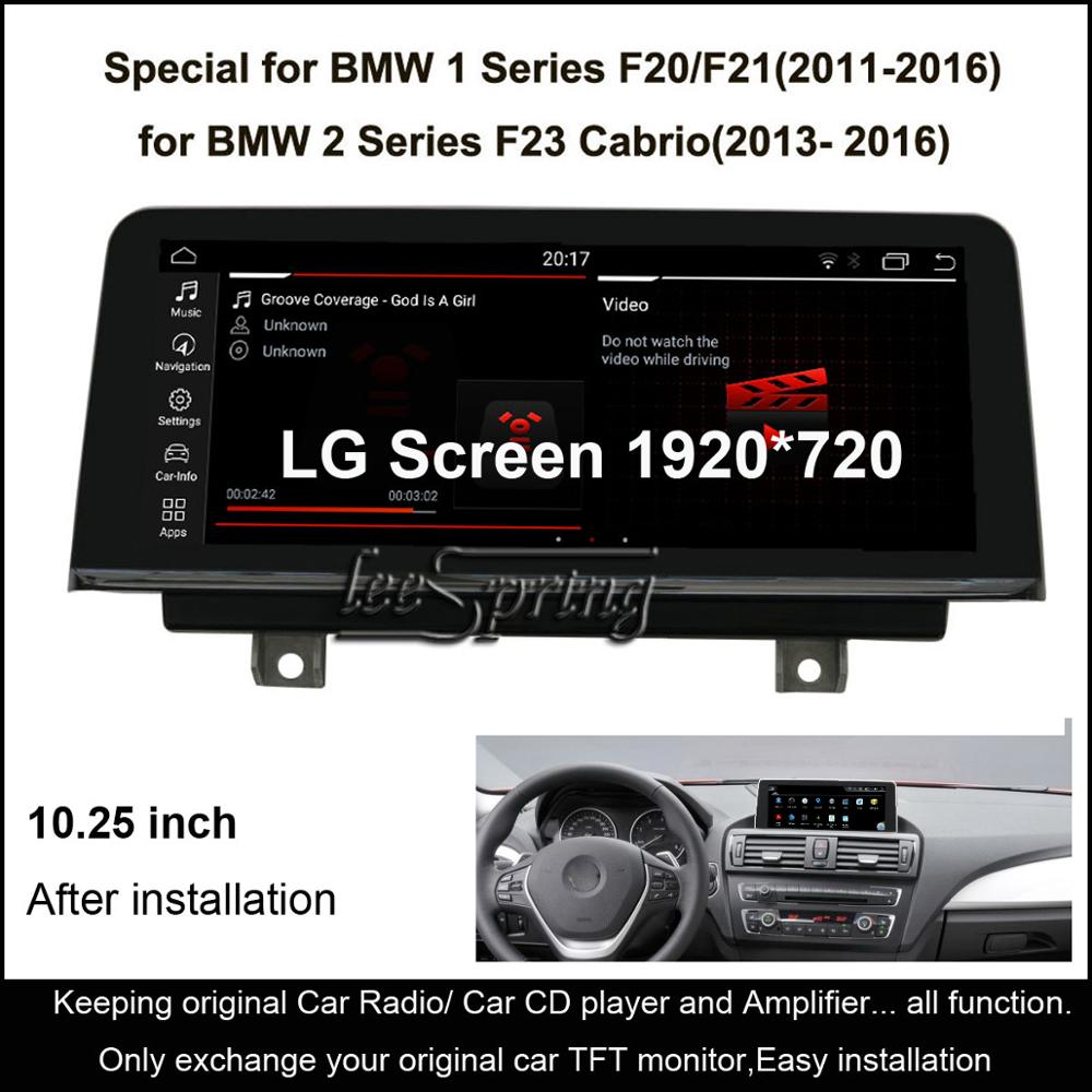 <font><b>10.25</b></font> <font><b>inch</b></font> IPS <font><b>Screen</b></font> <font><b>Android</b></font> 10.0 Car GPS Navigation for <font><b>BMW</b></font> 1 Series <font><b>F20</b></font>/F21(2011-2016)/for <font><b>BMW</b></font> 2 Series F23 Cabrio(2013-2016) image