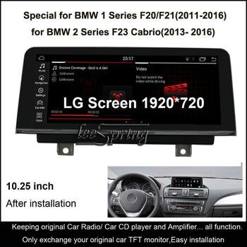 10.25 inch IPS Screen Android 10.0 Car GPS Navigation for BMW 1 Series F20/F21(2011-2016)/for BMW 2 Series F23 Cabrio(2013-2016) image