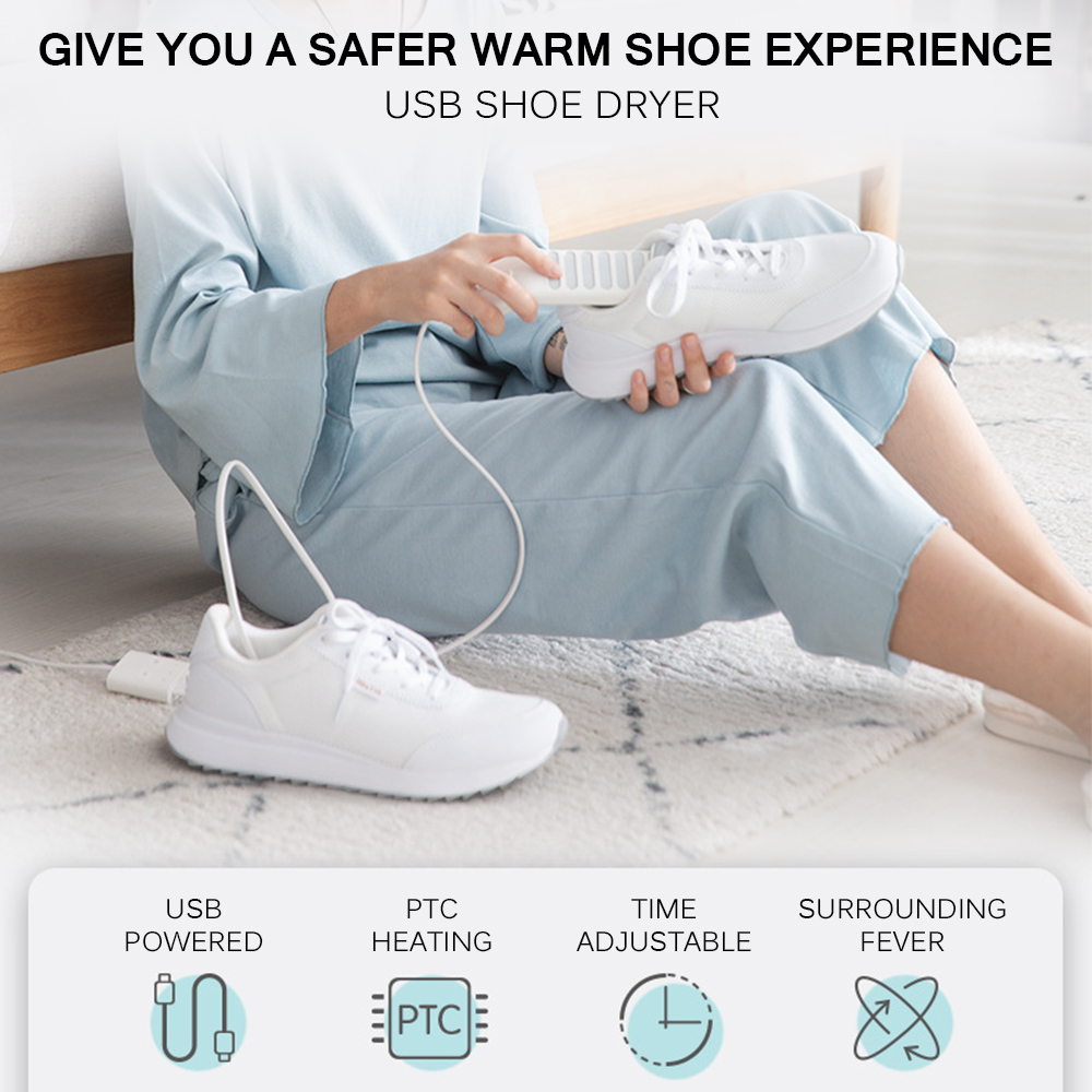 Portable USB Shoes Dryer Heating Mats Foot Warmers Deodorant Dehumidifying Device Suitable For Different Shoes With 200mm Cord