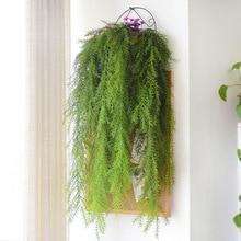 105cm 인공 식물 진짜 터치 소나무 바늘 가짜 공장 홈 정원 벽 장식 매달려 식물 인공 포도 나무