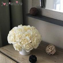 25 pçs/lote colorido artificial rosa bouquet decorativo espuma rosa flor noiva buquês para festa de casamento em casa decoração suprimentos