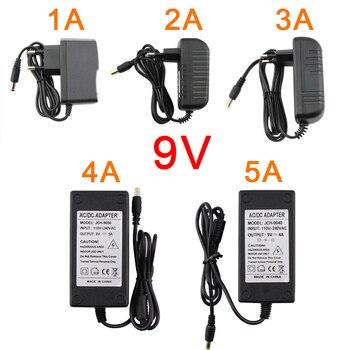 цена на AC DC 9V Power Supply Adapter 1A 2A 3A 4A 5A Power Adapter 220V to 9V Universal Supply Tramsformer EU US Plug For Led Light Lamp