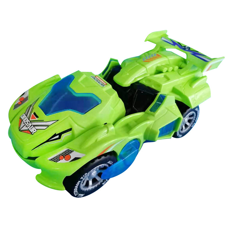 Kids Toys Car 3D Deformation LED Dinosaur Play Vehicles With Light Flashing Music For Children Christmas Gift Newest