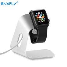 Raxfly smartwatch carregador titular para apple watch suporte de metal alumínio carregamento suporte berço para eu relógio estação doca carregador