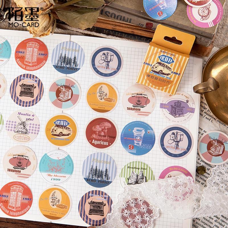 45 Pcs/Box Vintage Memory Past Mini Decoration Paper Sticker Decoration DIY Album Diary Scrapbooking Label Sticker