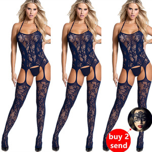 New body suits fetish Bodystocking women erotic Lingerie porno babydoll Crotchless body suit underwear costumes latex catsuit(China)