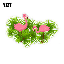 YJZT 10CM*15.8CM Cartoon Flamingo Automotive Products Car St