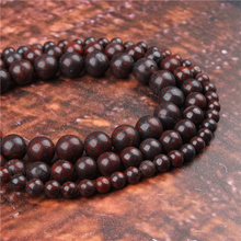 Fashion Sesame Red Round Beads Loose Jewelry Stone 4/6/8/10 / 12mm Suitable For Making Jewelry DIY Bracelet Necklace