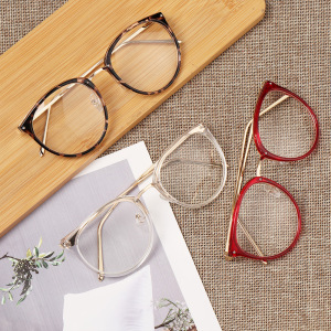 1Pc Vintage Round Glasses Frame Retro Female Frame Sun Glasses Frame Clear Optical Lens Spectacles Reading Eyeglasses Frame