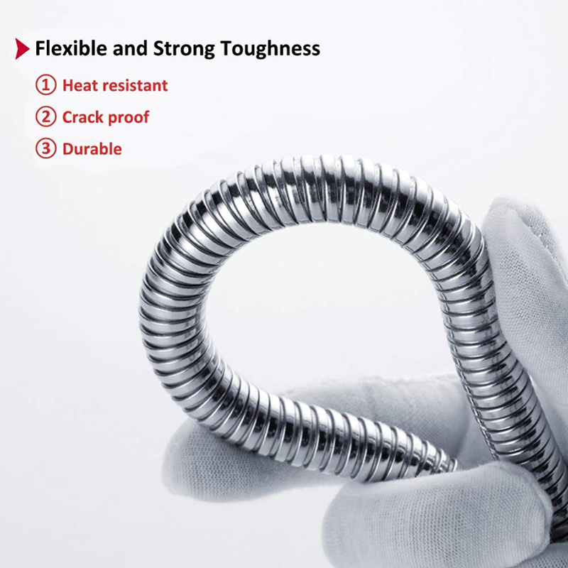 Zhangji General Flexible Soft Water Pipe 1.5m or 2m Rainfall Common Shower Hose Chrome Plating Shower Pipe Bathroom Accessories 4