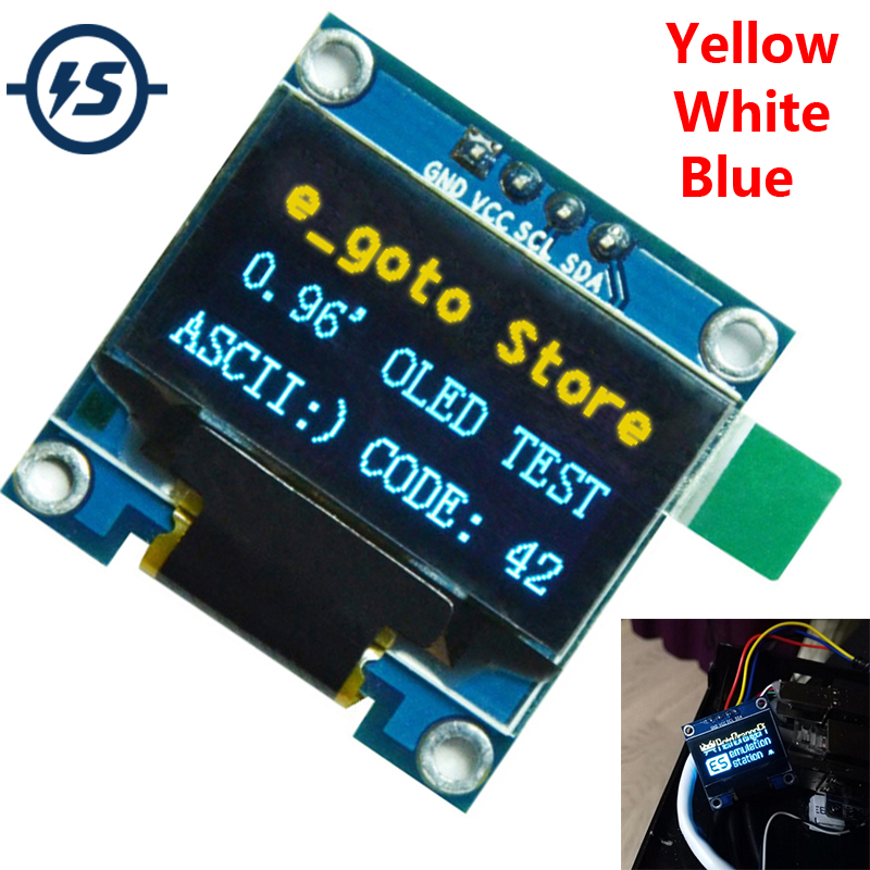 0.96'' For Arduino IIC Serial OLED Display Module 128X64 I2C SSD1306 12864 STM32 STM32 LCD Screen Board GND VCC SCL SDA