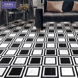 Испания черно-белая Геометрическая паркетная кухонная плитка Ресторан гостиничные магазины настенная плитка KTV пазл Напольный пазл