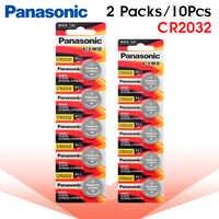 10 stücke marke neue batterie für PANASONIC cr2032 3v taste cell-münze batterien für uhr computer cr 2032 Für spielzeug Uhren