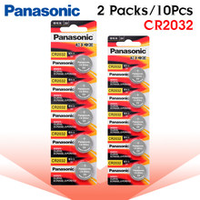 10pcs brand new battery for PANASONIC cr2032 3v button cell coin batteries for watch computer cr 2032 For Toys Watches(China)