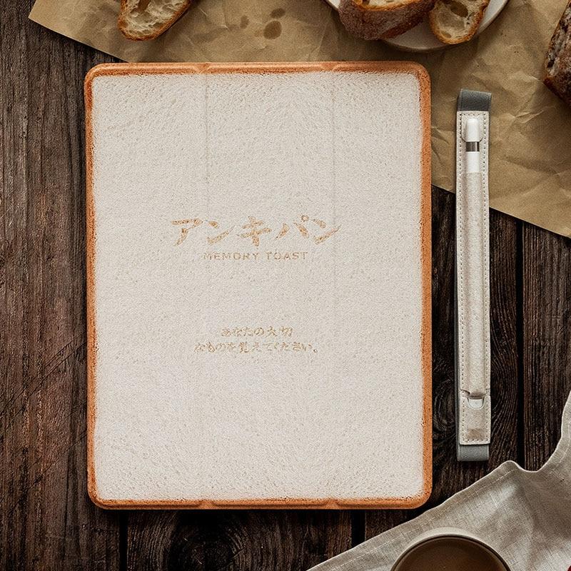 Купить с кэшбэком Ipad20172018 Memory Toast pattern Pu Flip case For Ipad 2017 2018 9.7inch cover Yellow tape