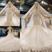 فساتين زفاف AIJINGYU في الثياب للنساء الأميرة البيضاء عالية الخصر رائع فستان عروس رومانسي أبيض