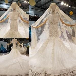 Image 1 - فساتين زفاف AIJINGYU في الثياب للنساء الأميرة البيضاء عالية الخصر رائع فستان عروس رومانسي أبيض
