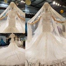 여자 공주 whites 높은 허리 화려한 로맨틱 화이트 신부 드레스에 대 한 가운에 aijingyu 웨딩 드레스