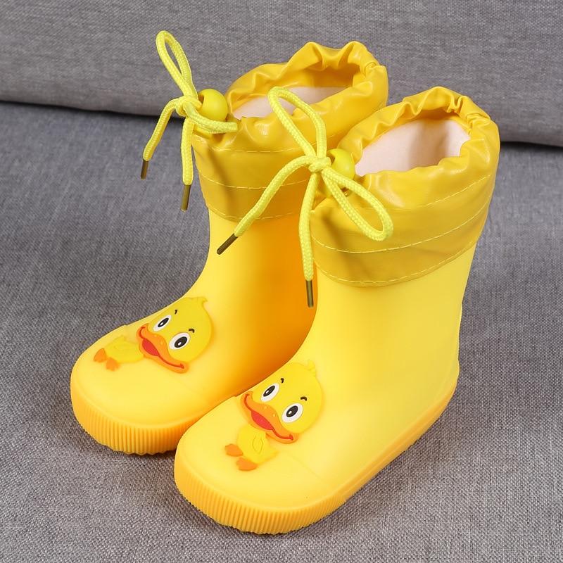 KushyShoo Children's Shoes PVC Kids Baby Cartoon Shoes Water Shoes Waterproof Rain Boots Toddler Girl Rainboots Winter