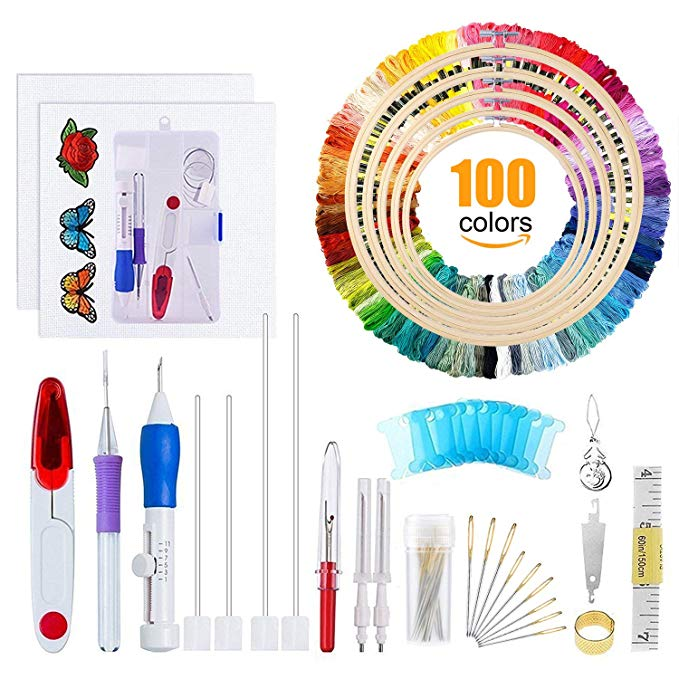 Magic Embroidery DIY Pen Punch Needle Kits Stitching Sewing Tool Kit Punch