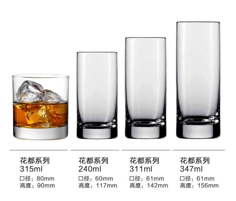 Verre прозрачный стакан бокал для вина бар аксессуары пивной коктейль с соком виски shot vinho шампанского tazas молочные чашки в видрио - Цвет: D 347ml