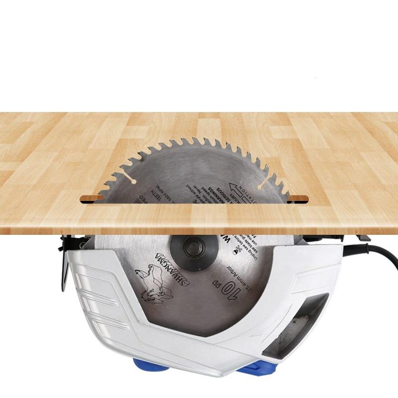 Electric circular saw 9 inch woodworking table saw cutting machine household circular saw flip