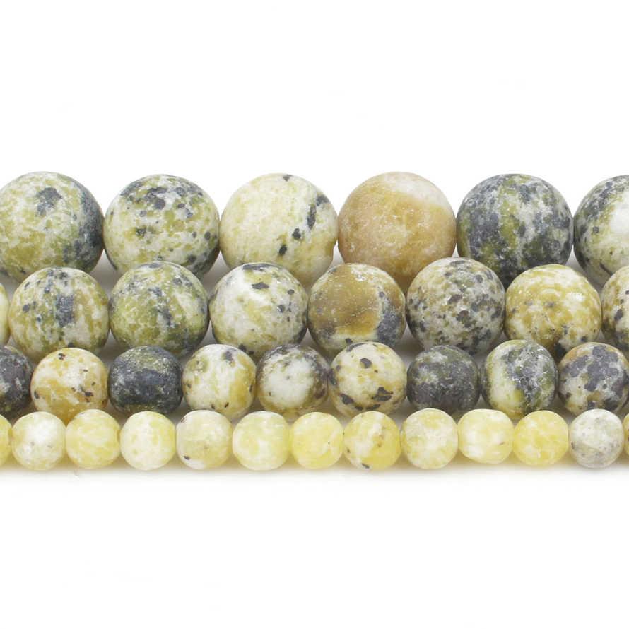 Natürliche Stein Matte Perlen 4/6/8/10mm Matt Poliert Frost Geknackt Achate Perlen für Schmuck, der Mineralien Diy Armband Schmuck
