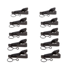 10 Pack Mini Ring Type Microphone Clip Hold Shock Secure Lapel Mic Clamp Replacement Kit for Headset Microphones(China)