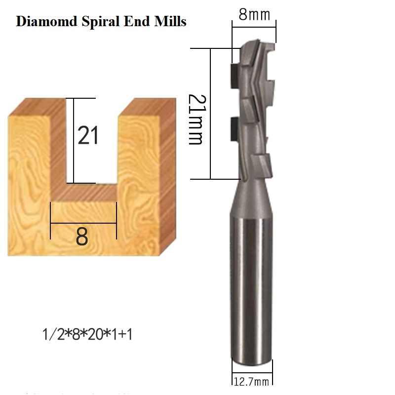 NO LOGO 1pc 4 mm V/ástago 1 Flauta Espiral del fresado CNC Router de bit Final Fresa de Extremo del carburo Mills tama/ño : 4X15X45L